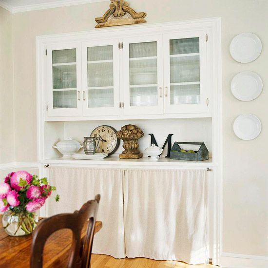 Low Cost Kitchen Updates: Hiding Clutter With Curtains