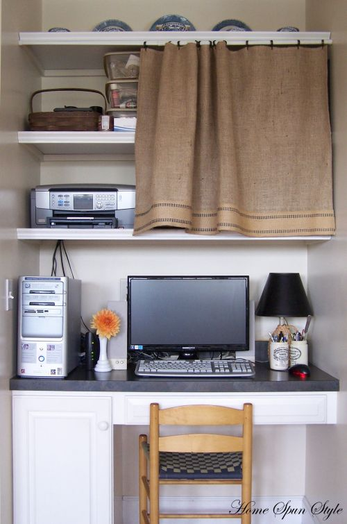 Hiding Clutter With Curtains Home Spun Style