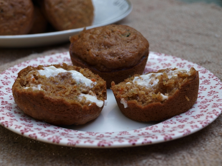 Zucchini Carrot Chocolate Chip Muffins – Home Spun Style