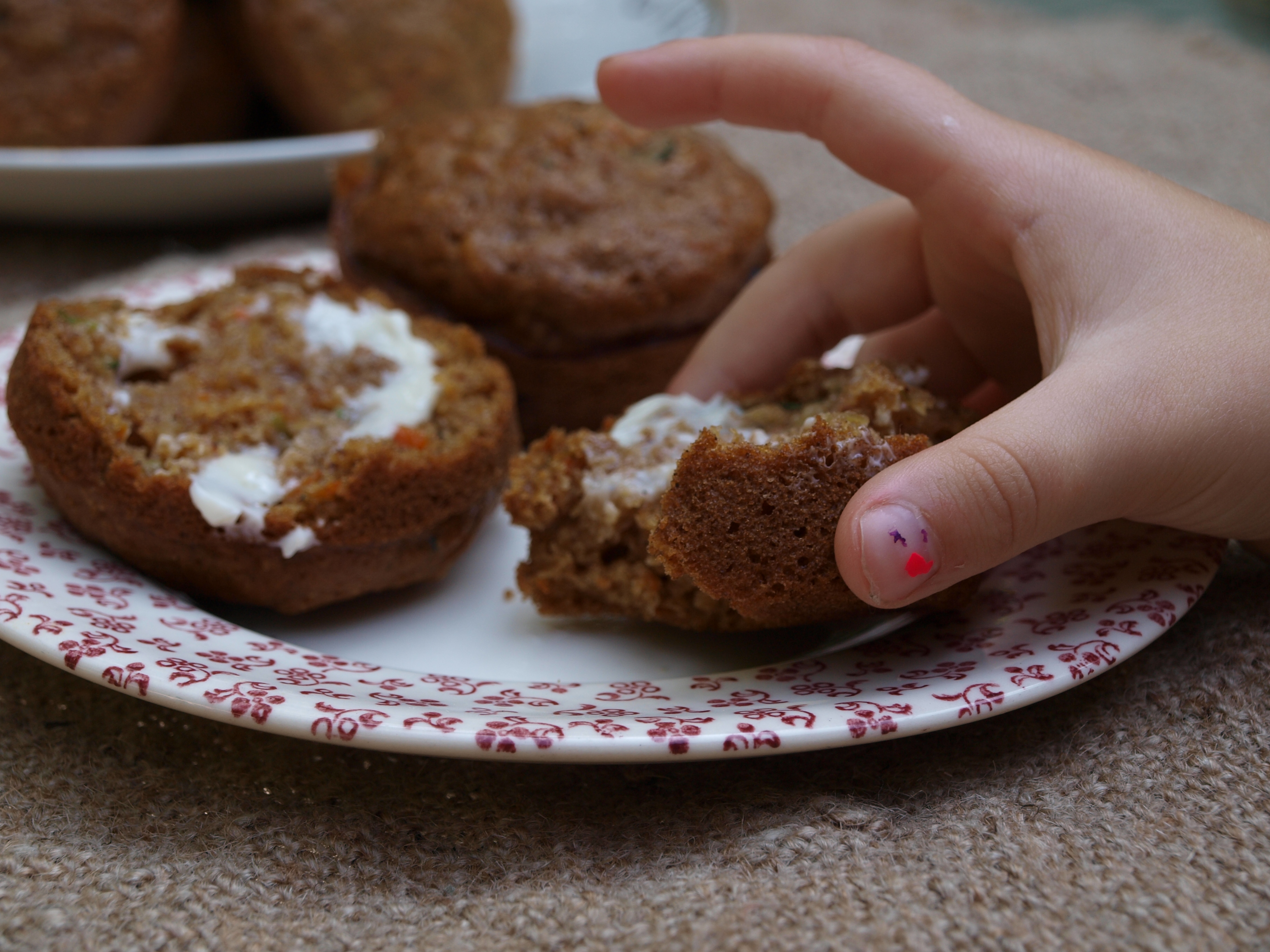 Zucchini Carrot Chocolate Chip Muffins   Home Spun Style
