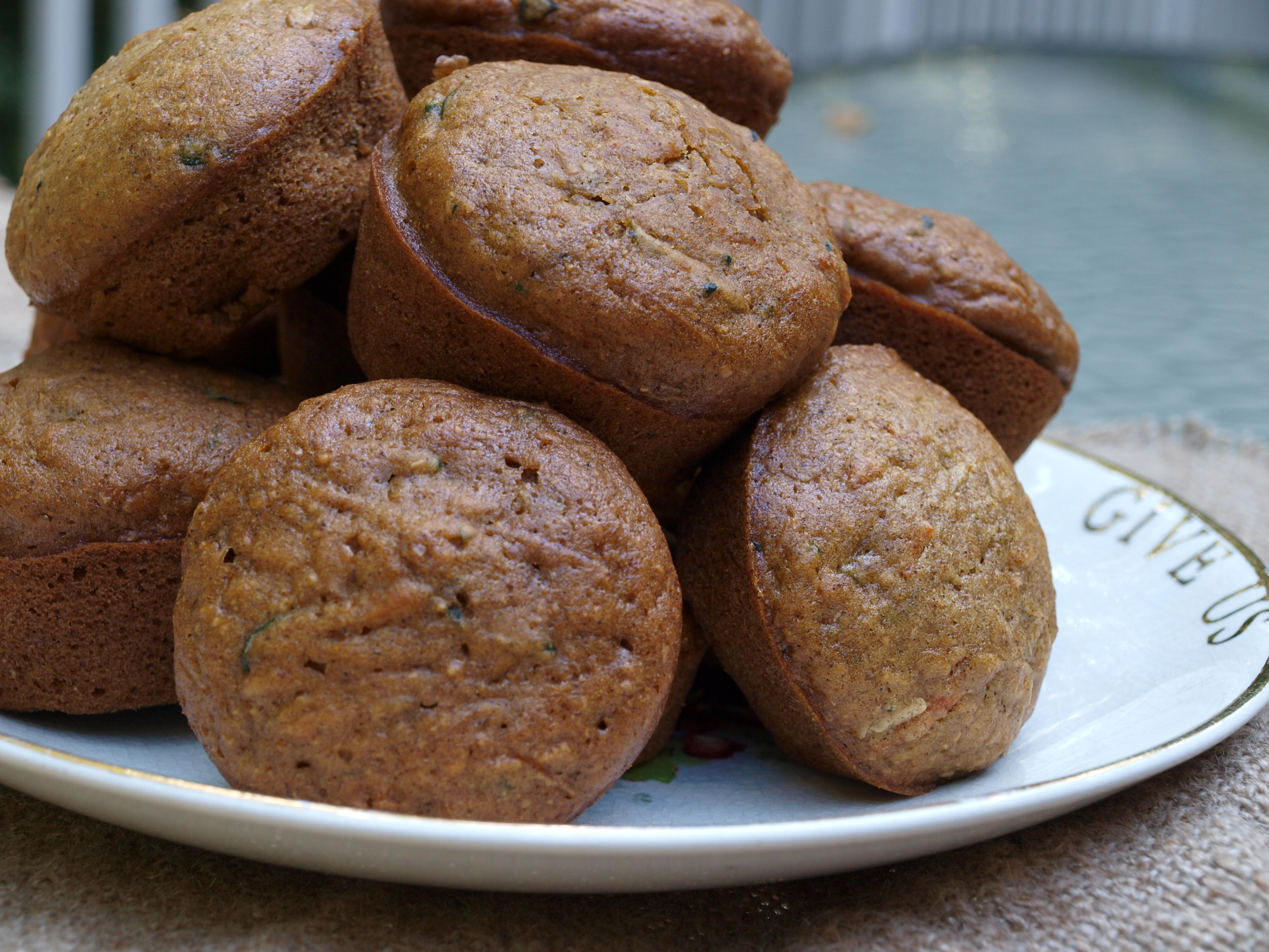 Zucchini Carrot Chocolate Chip Muffins | Home Spun Style