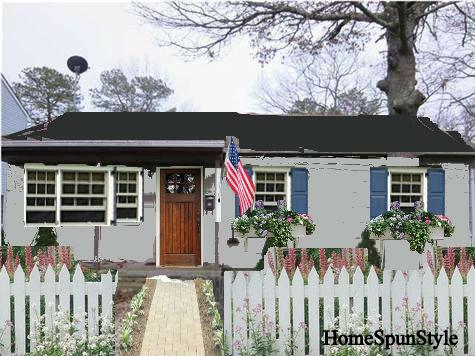 Beach House Exterior Color Scheme Home Spun Style