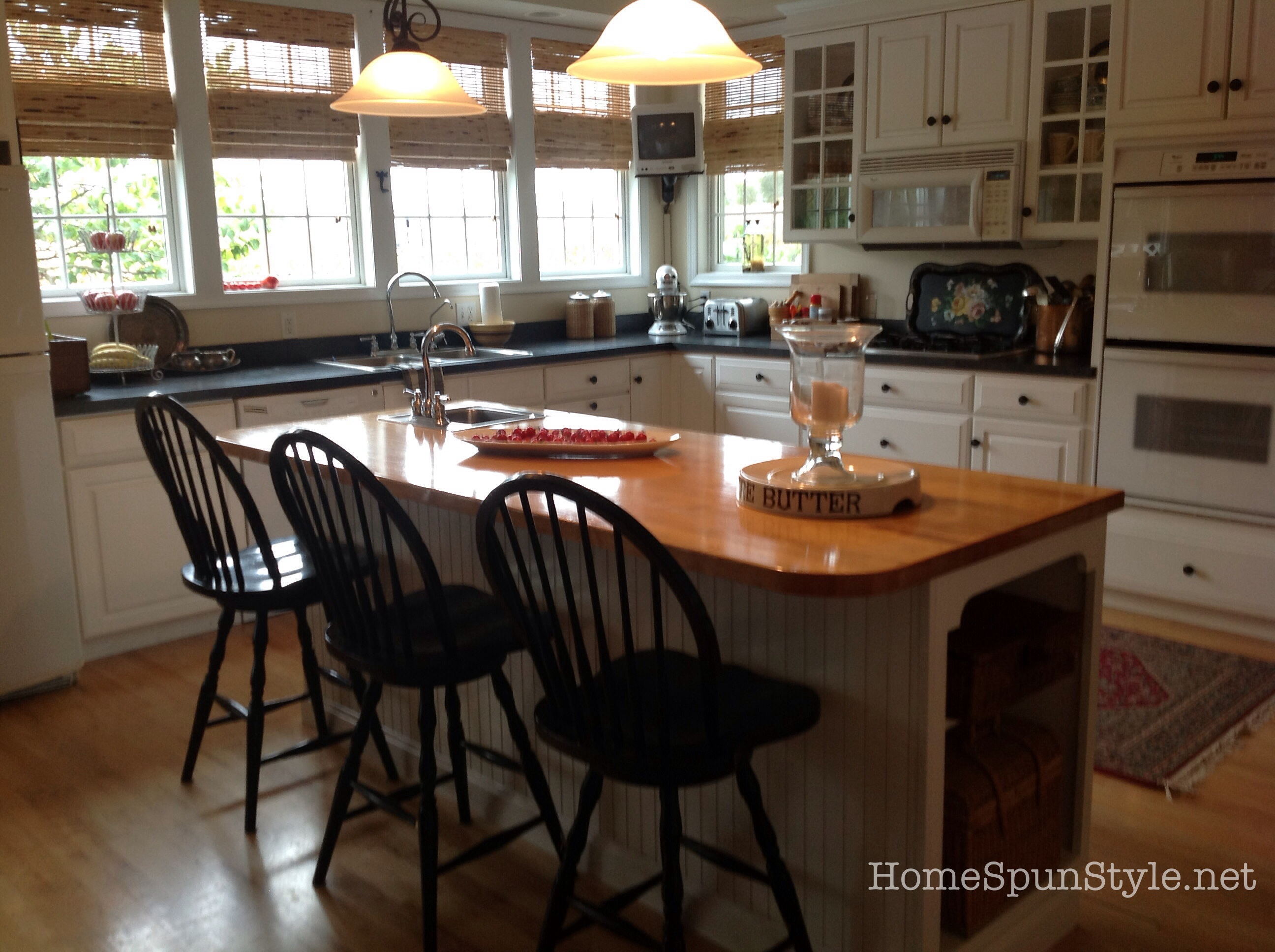 miss mustard seeds milk paint meets my kitchen stools countertop stools kitchen But 12 years and 3 kids later my stools were showing a lot of wear And in my new home with the base cabinets painted black I felt some contrast in color