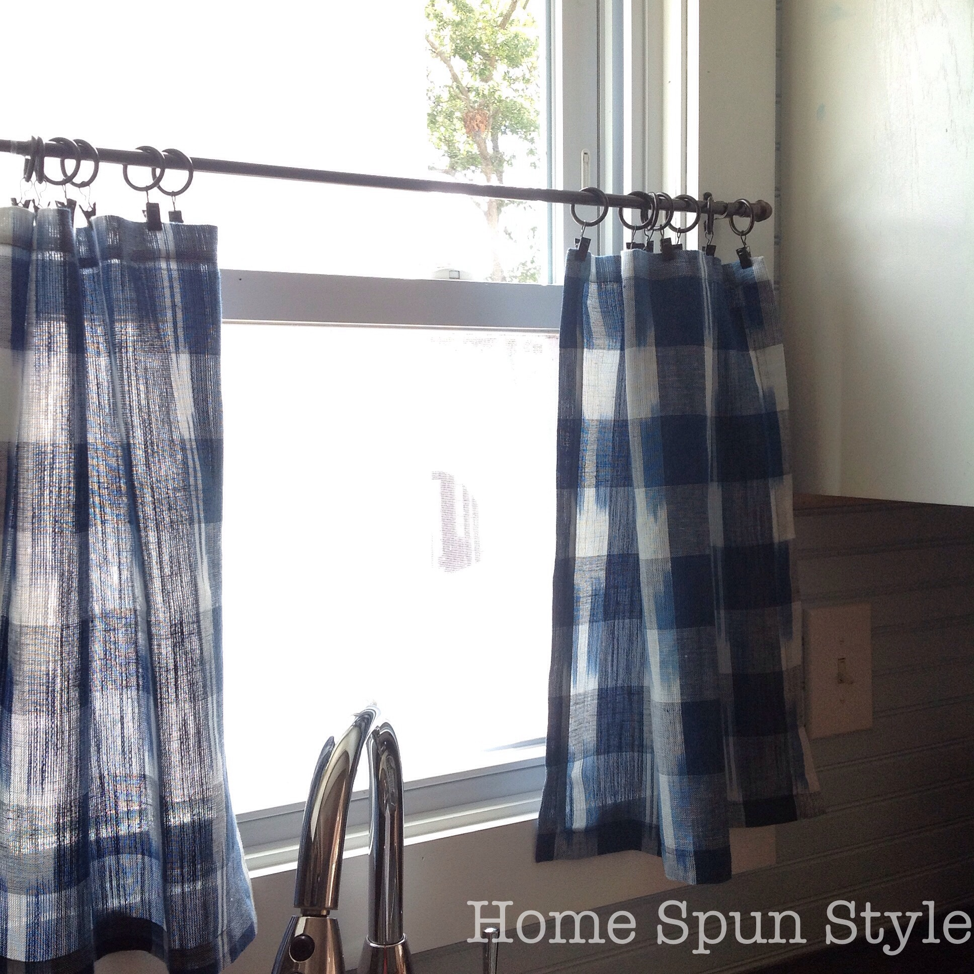 No Sew Cafe Curtains Home Spun Style