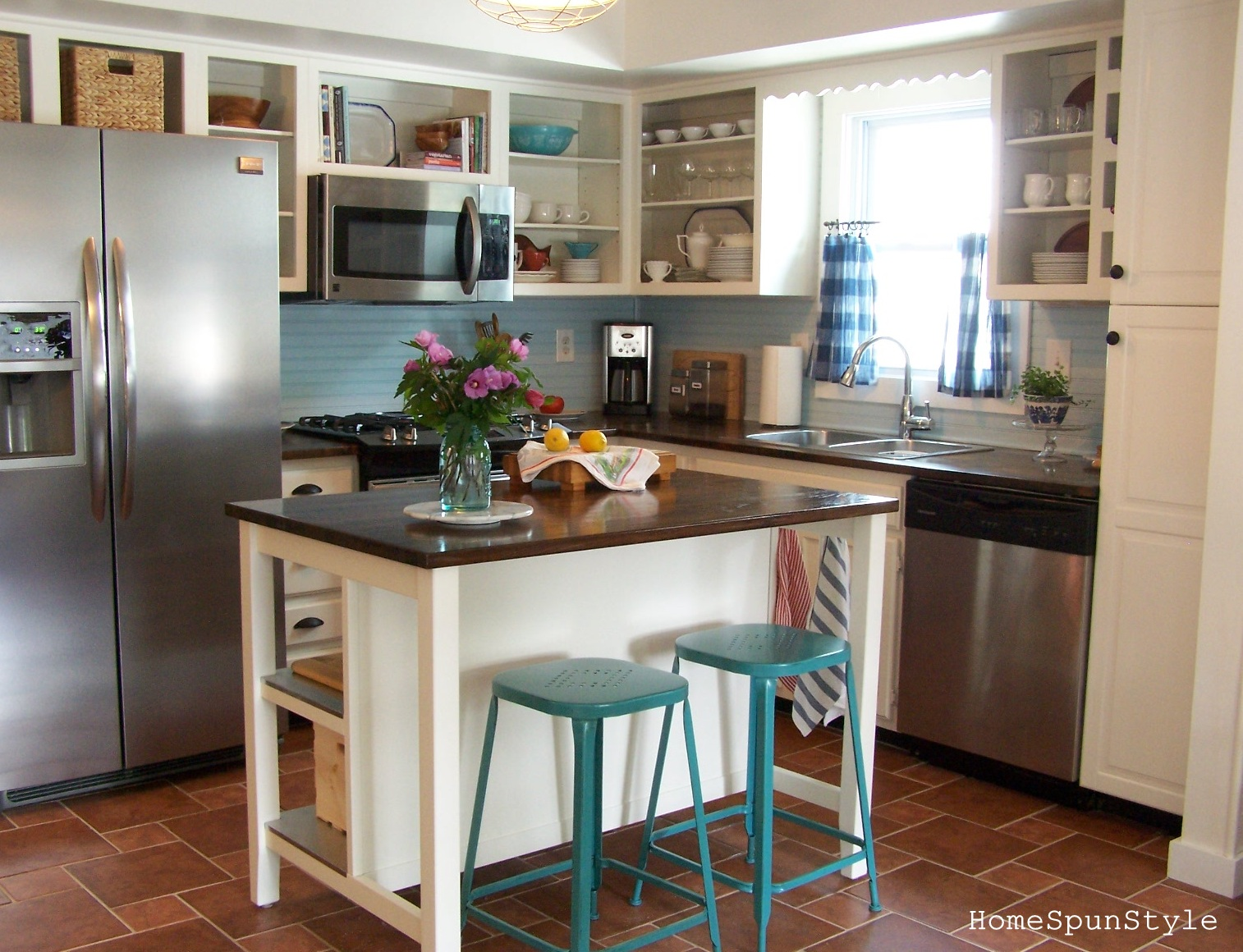 Beach Kitchen Beach Kitchen Reveal Before And After Home Spun Style