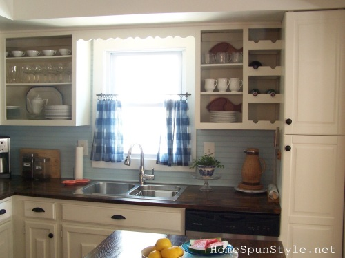 how to paint kitchen cabinets cottage makeover home spun style 7310