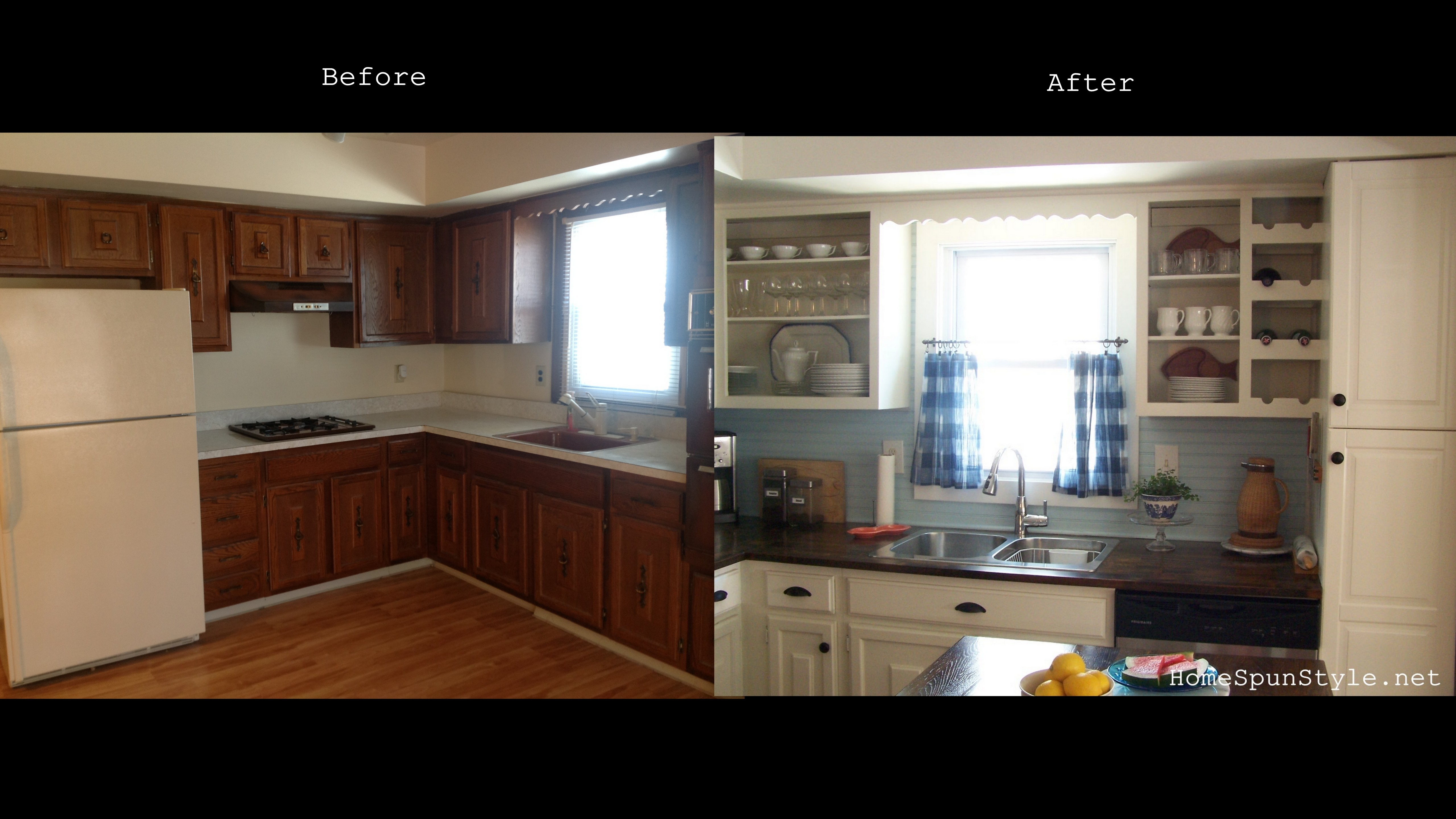 Beach Kitchen Reveal – Before and After – Home Spun Style